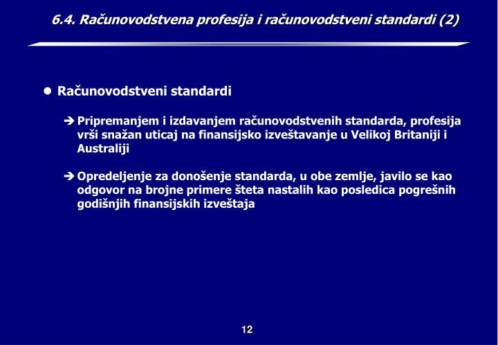 6.4. Računovodstvena profesija i računovodstveni standardi (2)