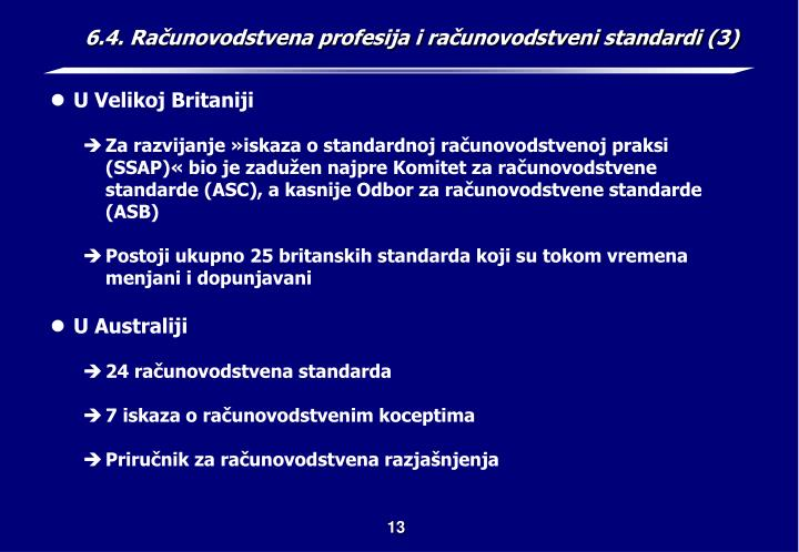 6.4. Računovodstvena profesija i računovodstveni standardi (3)