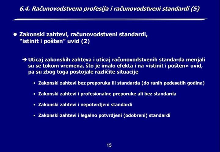 6.4. Računovodstvena profesija i računovodstveni standardi (5)