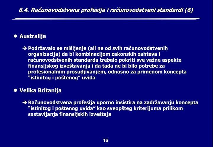 6.4. Računovodstvena profesija i računovodstveni standardi (6)