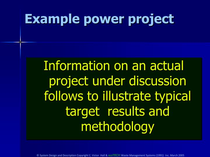 Example power project