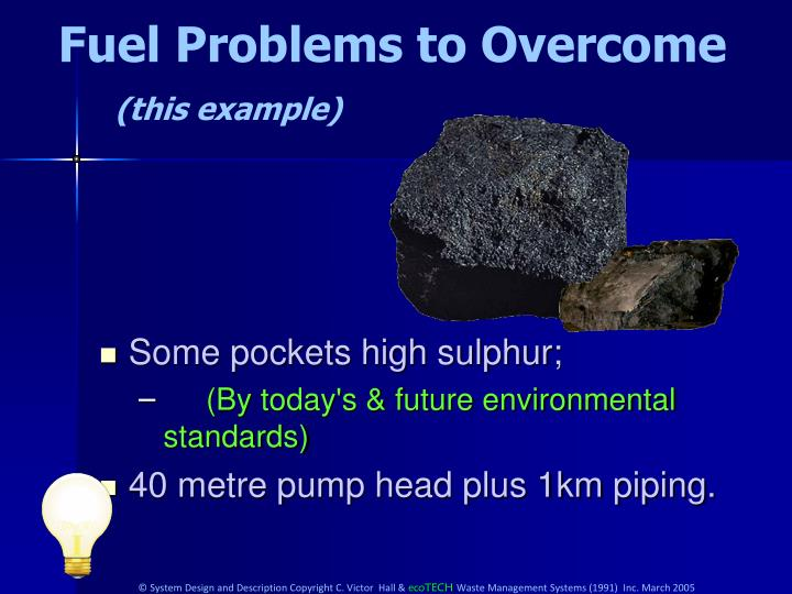 Fuel Problems to Overcome