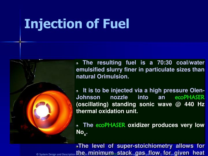 Injection of Fuel