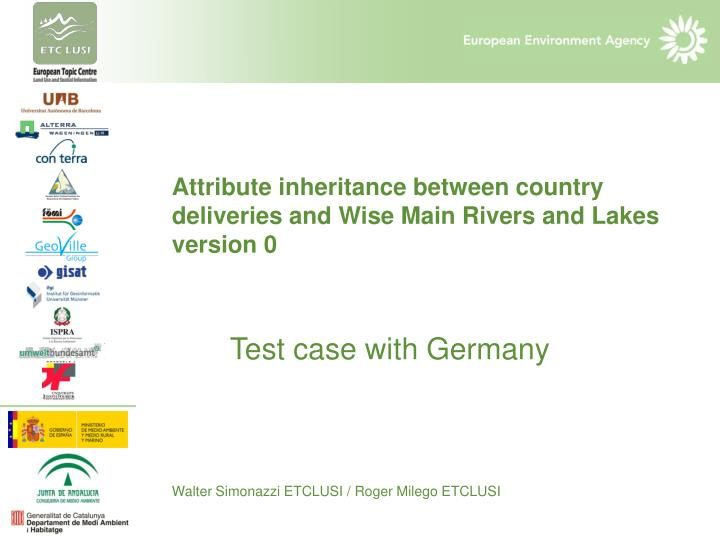 Attribute inheritance between country deliveries and Wise Main Rivers and Lakes version 0