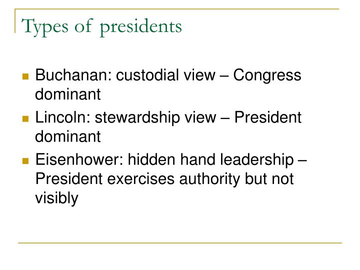 Types of presidents