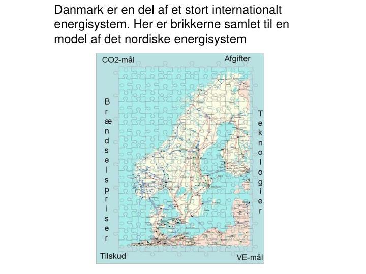 Danmark er en del af et stort internationalt energisystem. Her er brikkerne samlet til en model af det nordiske energisystem