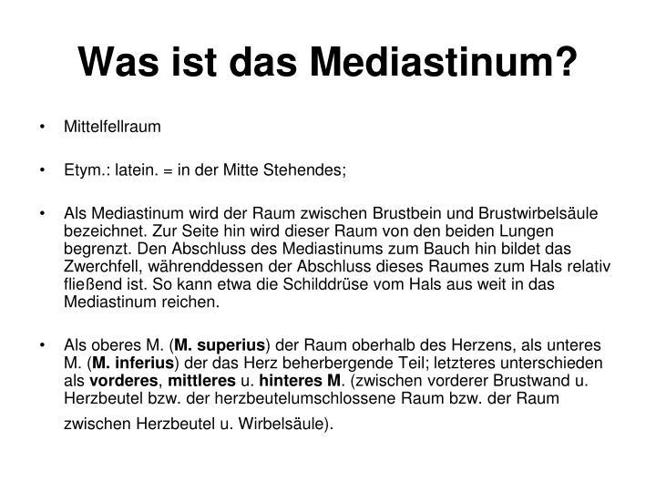 Was ist das Mediastinum?