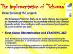 the implementation of schuman