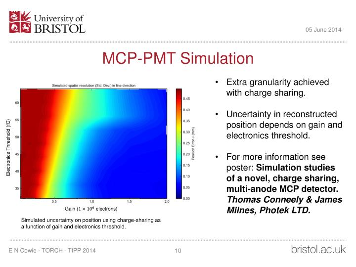 MCP-PMT Simulation