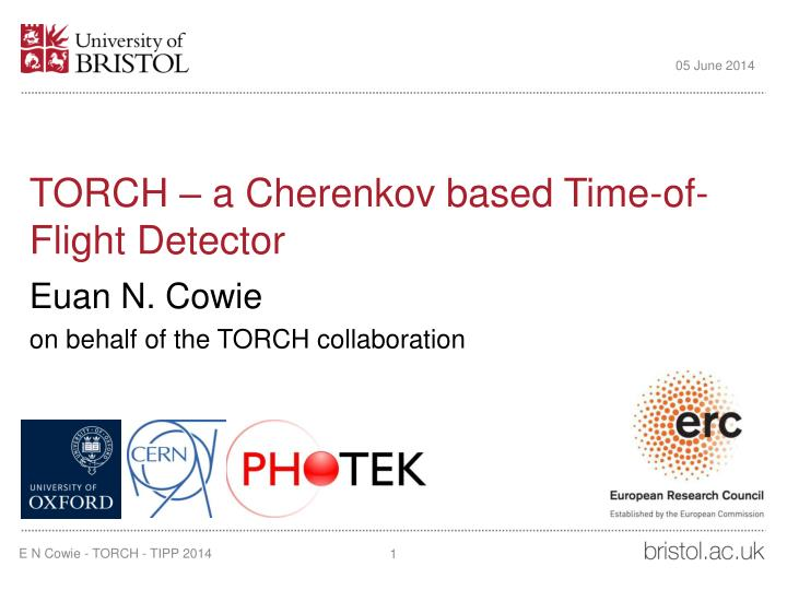 Torch a cherenkov based time of flight detector
