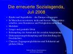 die erneuerte sozialagenda juli 2008