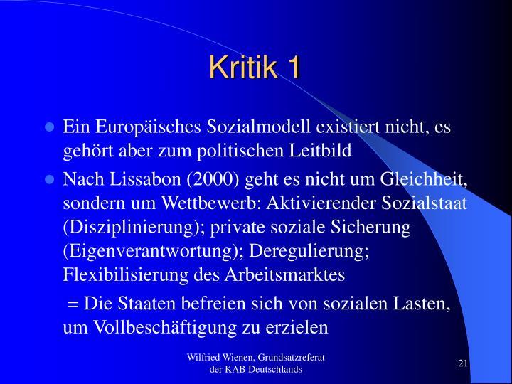 Kritik 1