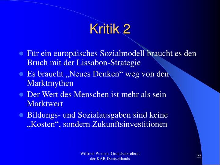 Kritik 2