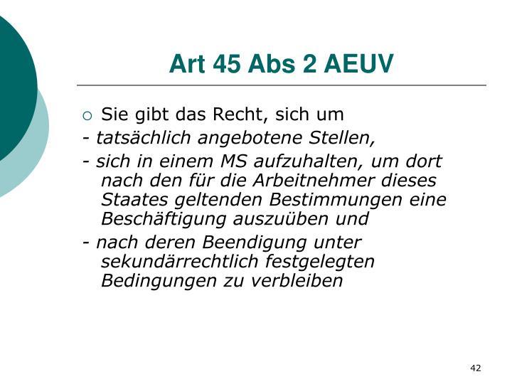 Art 45 Abs 2 AEUV