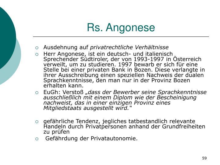 Rs. Angonese