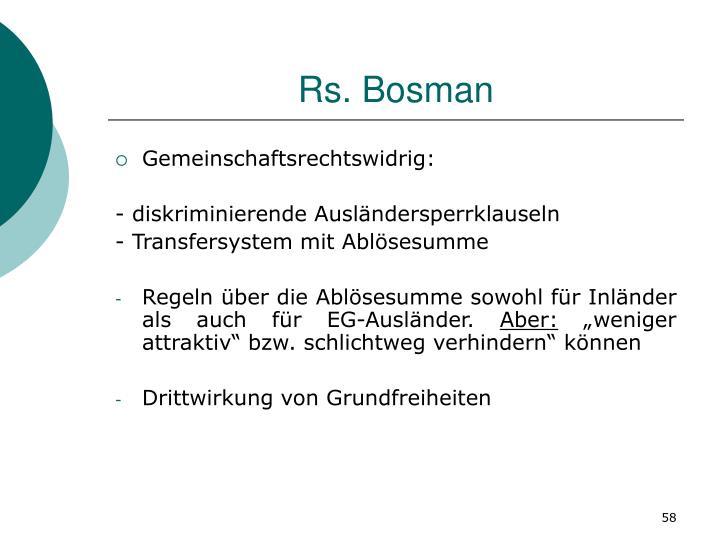 Rs. Bosman