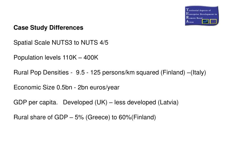 Case Study Differences