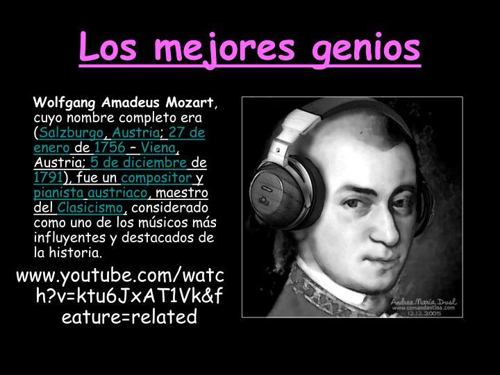 Los mejores genios