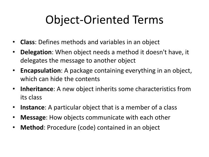 Object-Oriented Terms