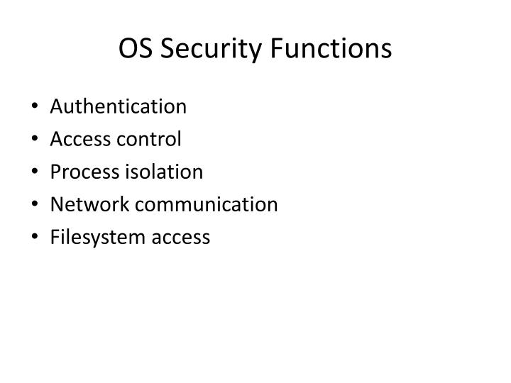 OS Security Functions
