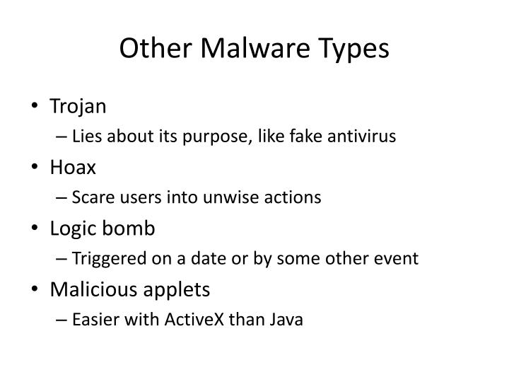 Other Malware Types
