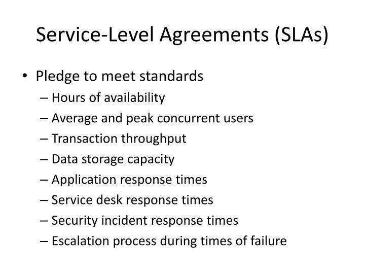 Service-Level Agreements (SLAs)