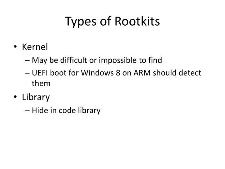 Types of Rootkits