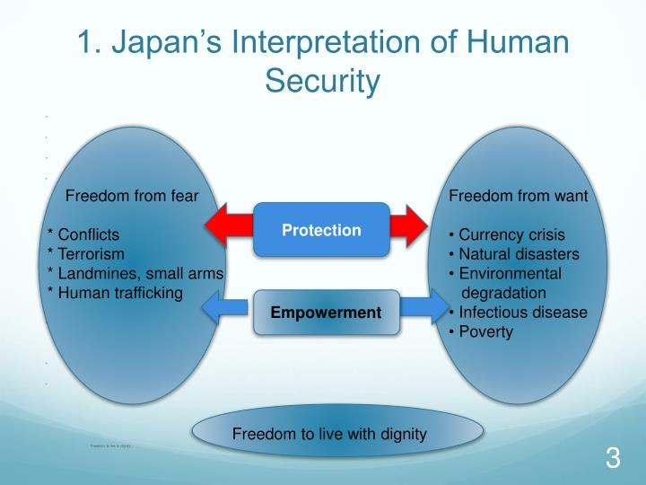 1. Japan's Interpretation of Human Security