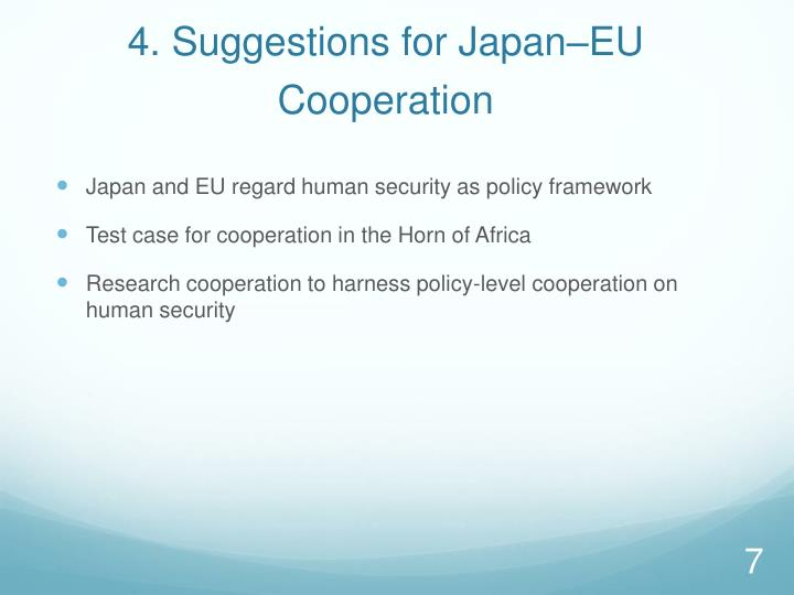 4. Suggestions for Japan–EU
