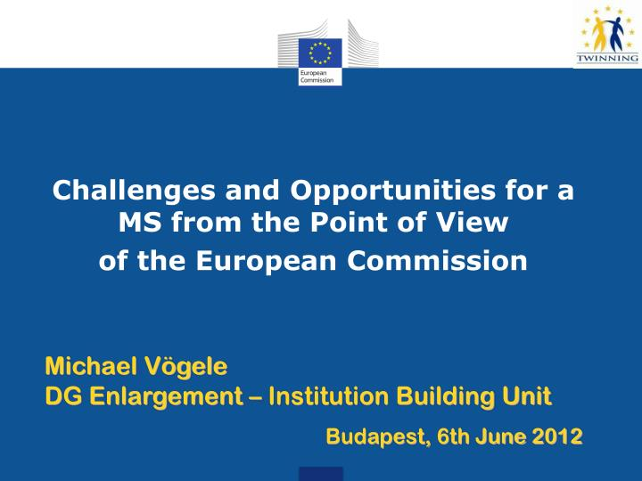 Challenges and Opportunities for a MS from the Point of View