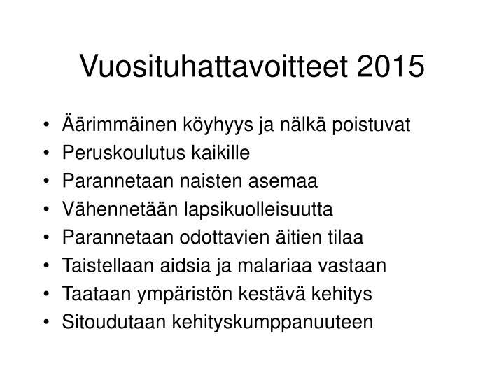 Vuosituhattavoitteet 2015