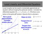 local linearity and differential equations