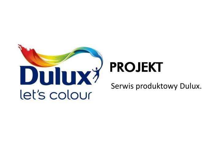 Serwis produktowy Dulux.