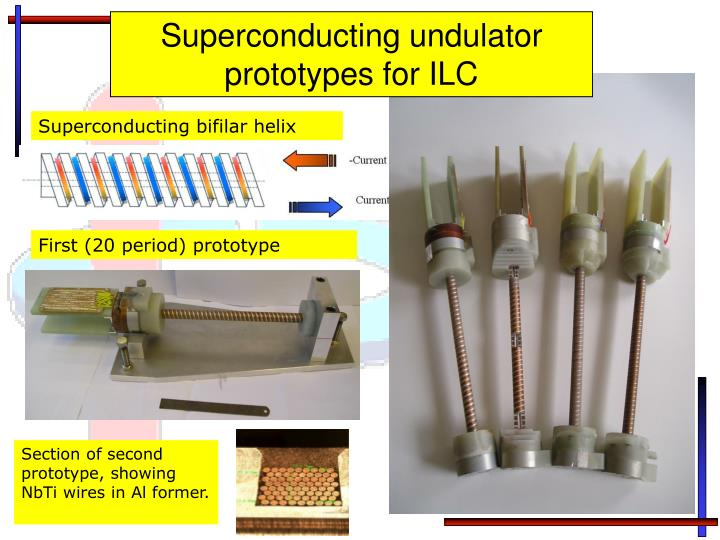 Superconducting undulator prototypes for ILC