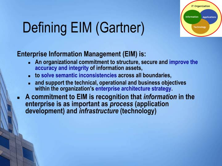Defining EIM (Gartner)
