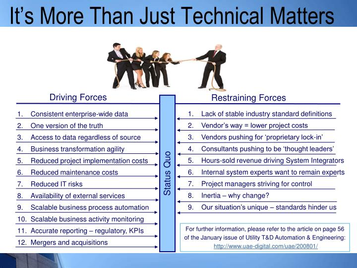 It's More Than Just Technical Matters