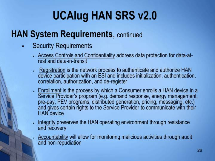 HAN System Requirements