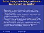 social dialogue challenges related to development cooperation
