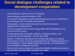 social dialogue challenges related to development cooperation1