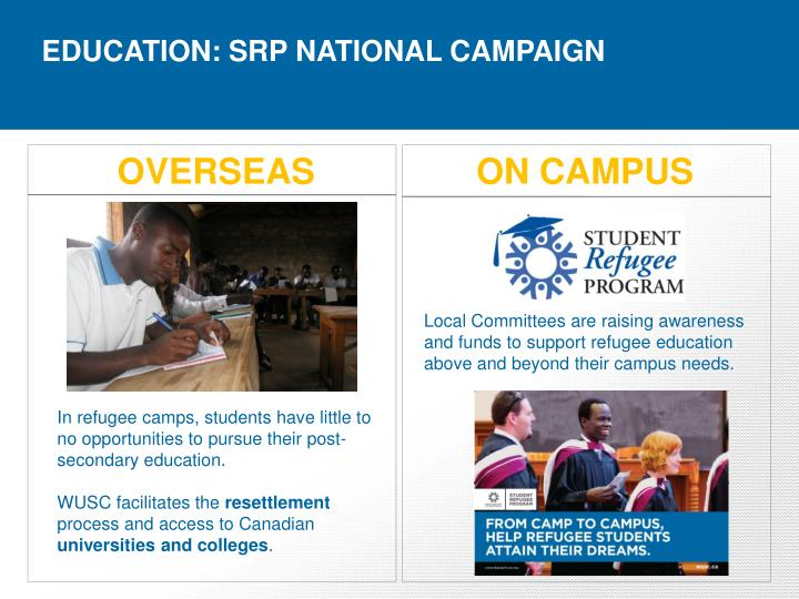 EDUCATION: SRP NATIONAL CAMPAIGN