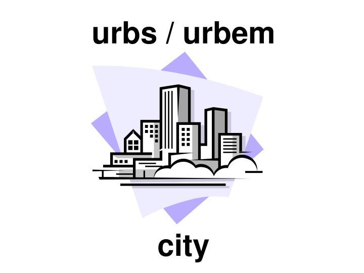 urbs / urbem