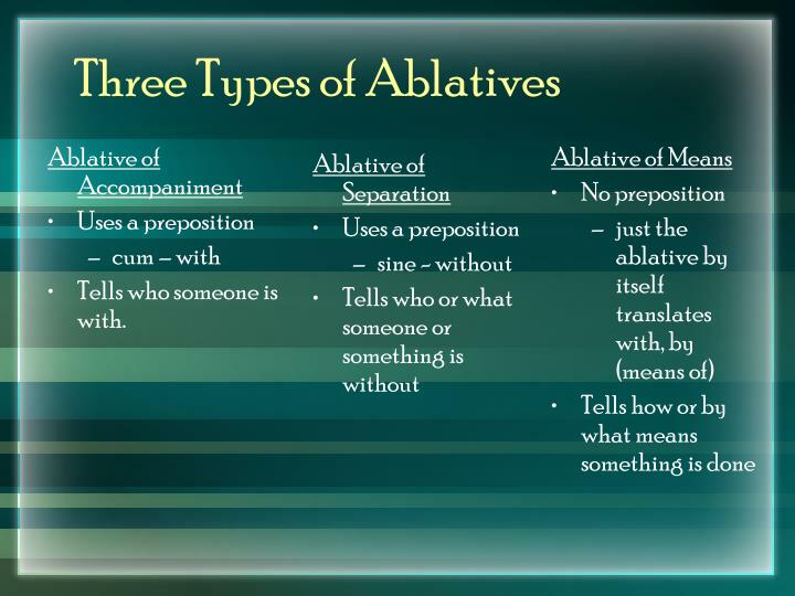 Three types of ablatives
