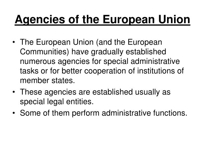 Agencies of the European Union