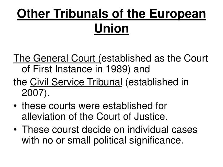 Other Tribunals of the European Union