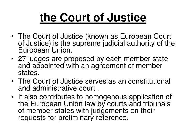 the Court of Justice