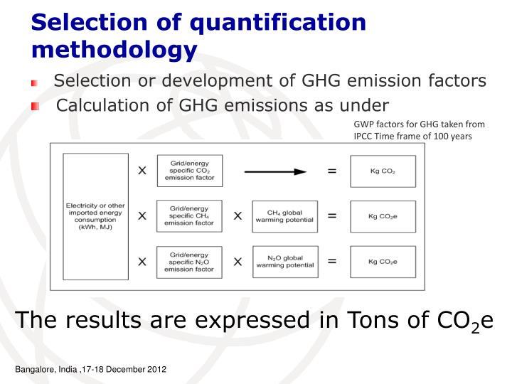 Selection or development of GHG emission factors