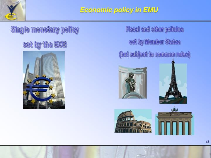 Economic policy in EMU