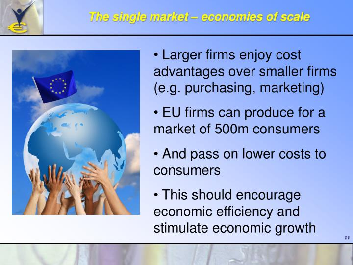 The single market – economies of scale