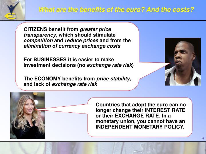 What are the benefits of the euro? And the costs?