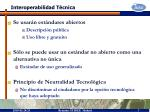 interoperabilidad t cnica